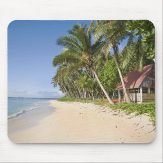 Lavena Beach, Taveuni, Fiji, traditional hut Mouse Pad