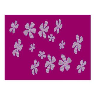 lavendar flowers postcard