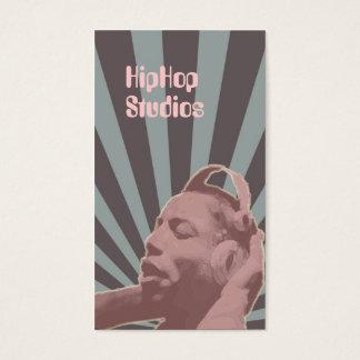 Lavendar Hip Hop Headphones Business Card Template