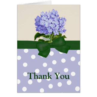 Lavendar Hydrangea Greeting Card