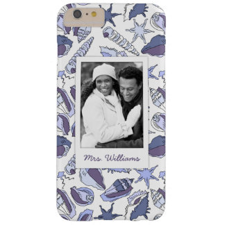 Lavendar Seashells | Your Photo & Name Barely There iPhone 6 Plus Case