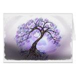 Lavendar Tree of Life Greeting Card