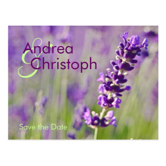 Lavendel • Save the date postcard