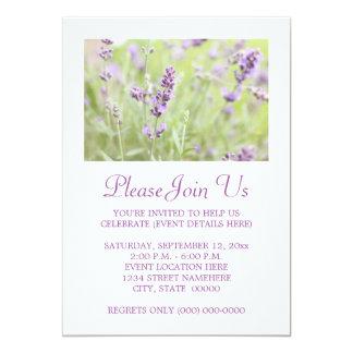 Lavender 13 Cm X 18 Cm Invitation Card