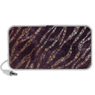 Lavender Abstract Bling Zebra Speakers