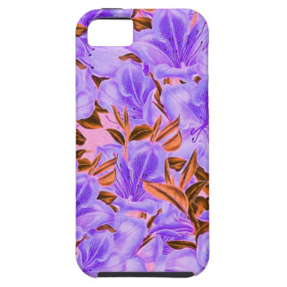 Lavender Abstract Flowers iPhone 5 Cover
