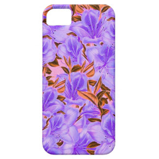 Lavender Abstract Flowers iPhone 5 Covers