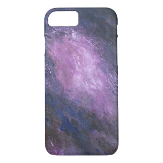Lavender and Black Abstract iPhone Case