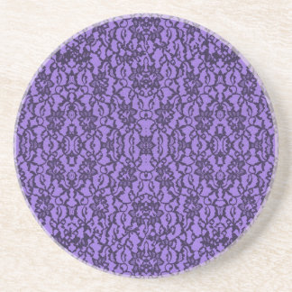 Lavender and Black Lace Drink Coasters