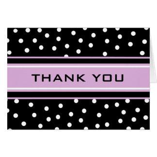 Lavender and Black Polka Dots Card