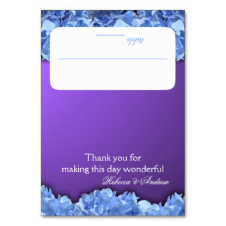 Lavender and Blue Hydrangeas Seating Card