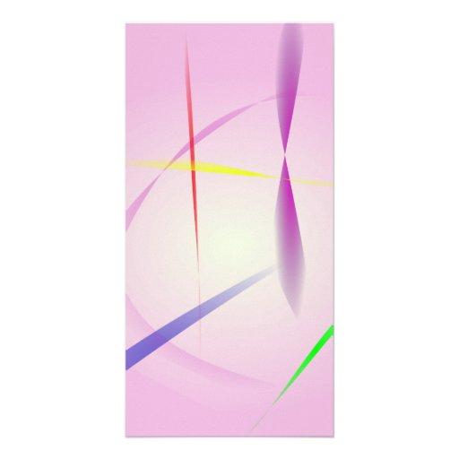Lavender and Colored Lines Picture Card