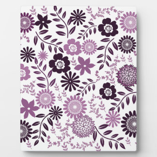 Lavender and dark purple pattern floral plaque
