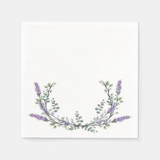 Lavender and eucalyptus disposable napkins