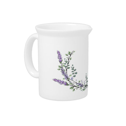 Lavender and Eucalyptus Pitcher
