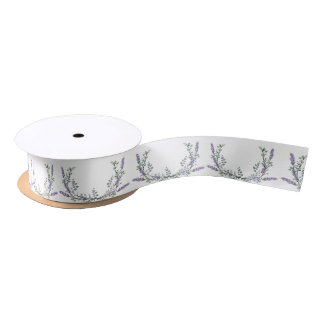 Lavender and eucalyptus satin ribbon