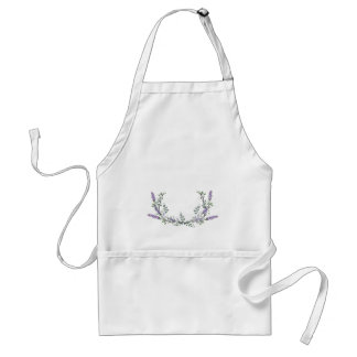 Lavender  and Eucalyptus Standard Apron