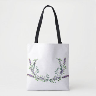 Lavender and Eucalyptus Tote Bag