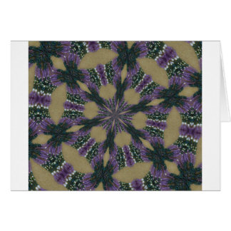 Lavender and Green kaliedoscope Card