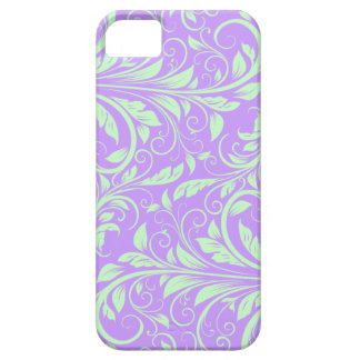 Lavender and Pastel Green Floral Damask iPhone 5 Cover