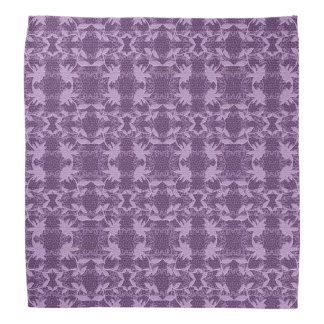 Lavender And Purple Floral Lace Pattern  Bandanna