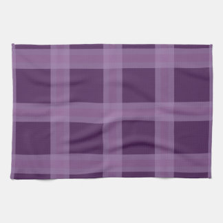 Lavender And Purple Plaid Pattern Dish Towel