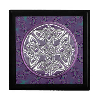 Lavender and Silver Celtic Knot Fractal Gift Box