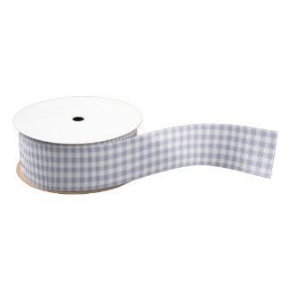 Lavender and White Gingham Pattern Ribbon Grosgrain Ribbon