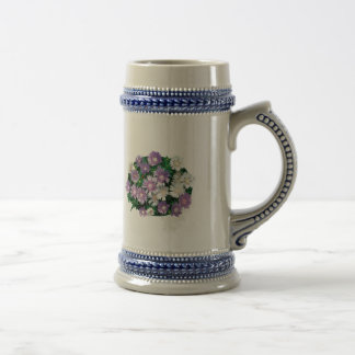 Lavender and White Stokes Asters Coffee Mugs