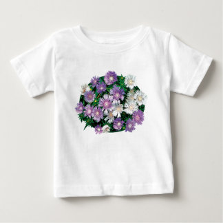 Lavender and White Stokes Asters Kids Baby T-Shirt