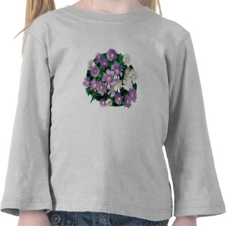 Lavender and White Stokes Asters Kids T-shirt