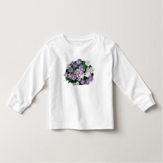 Lavender and White Stokes Asters Kids Shirts
