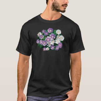Lavender and White Stokes Asters Mens T-Shirt
