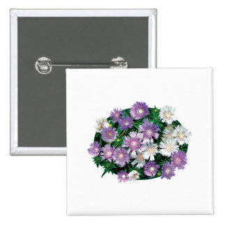 Lavender and White Stokes Asters Pin