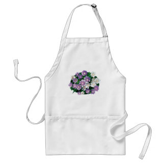 Lavender and White Stokes Asters Standard Apron