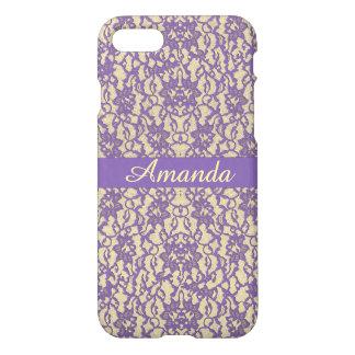 Lavender Antique Lace iPhone 7 Plus Case