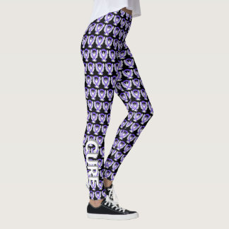 Lavender Awareness Ribbon Angel Words Leggings