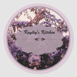 Lavender azaleas jar labels