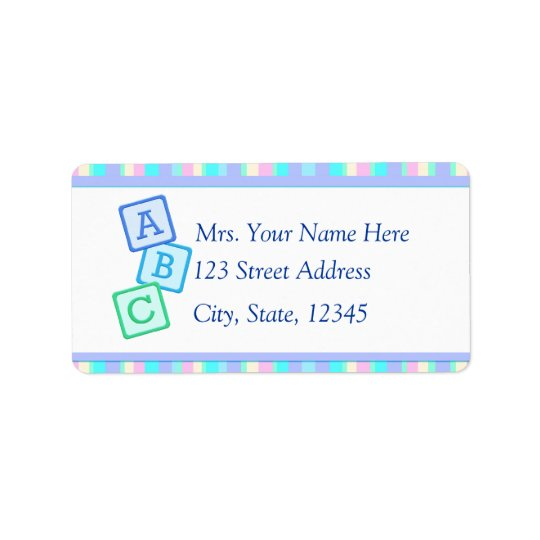 Lavender Baby Address Lables Address Label
