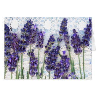 lavender background card