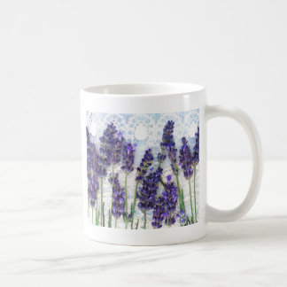 lavender background coffee mug