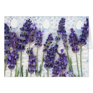 lavender background greeting card