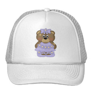 Lavender Ballerina Bear Hats