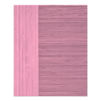 Lavender Bamboo Border Wood Grain Look 11.5 Cm X 14 Cm Flyer