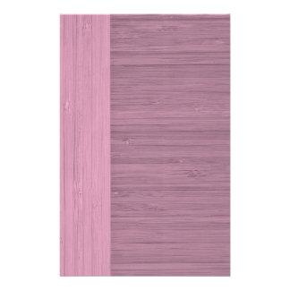 "Lavender Bamboo Border Wood Grain Look 5.5"" X 8.5"" Flyer"