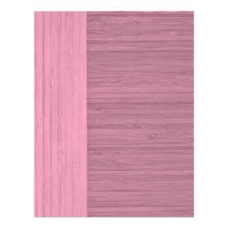 "Lavender Bamboo Border Wood Grain Look 8.5"" X 11"" Flyer"