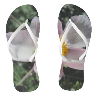 Lavender Beach Plum Rose Flower Thongs