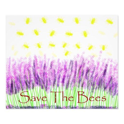Lavender Bees Photo