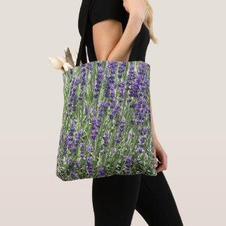 Lavender Blooms Floral Tote Bag