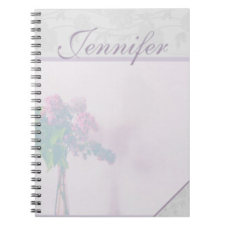 Lavender Blooms Pastel Journal Spiral Note Books